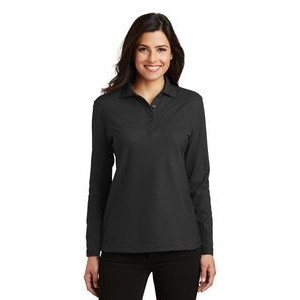 Port Authority® Ladies' Silk Touch™ Long Sleeve Polo Shirt