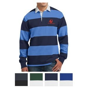 Sport-Tek® Classic Long Sleeve Rugby Polo