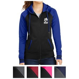 Sport-Tek® Ladies' Sport-Wick® Varsity Fleece Full-Zip Hooded Jacket